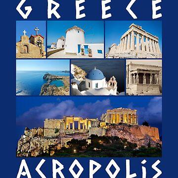 Greece Acropolis T-Shirt famous sights gallery Souvenir by peter2art
