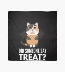 Calico Cat Halloween Trick or Treat Scarf