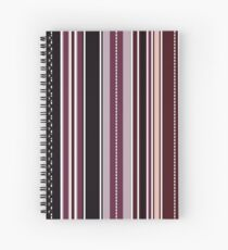 Modern Classic Fashion Stripes - Blueberry Spiral Notebook