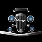 Retro classic car by recostume
