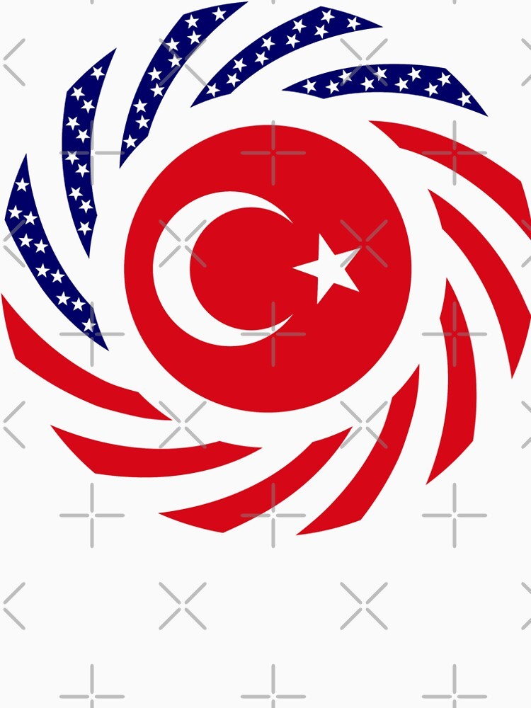 Turkish American Multinational Patriot Flag Series by carbonfibreme