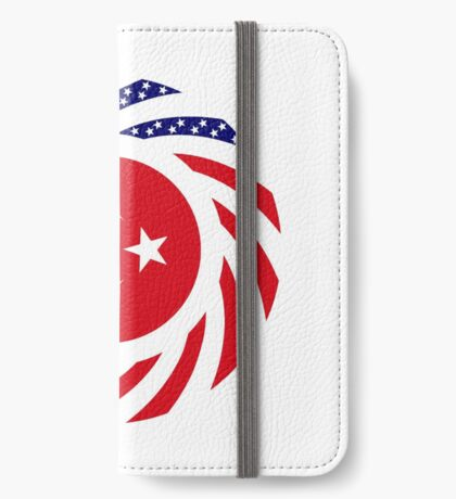 Turkish American Multinational Patriot Flag Series iPhone Wallet