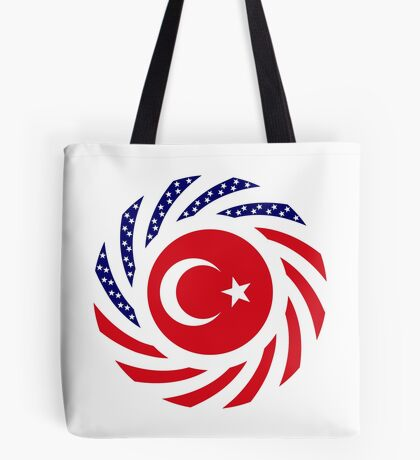 Turkish American Multinational Patriot Flag Series Tote Bag