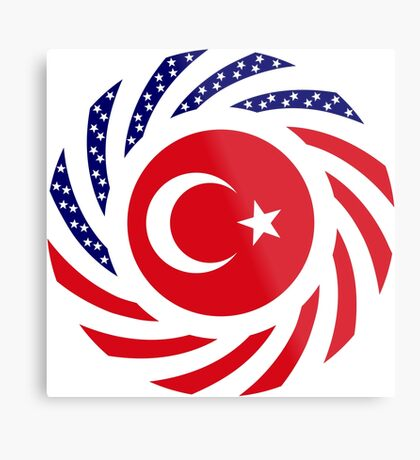 Turkish American Multinational Patriot Flag Series Metal Print