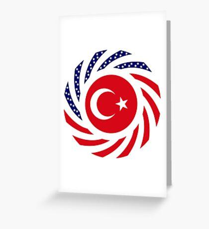Turkish American Multinational Patriot Flag Series Greeting Card