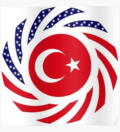 Turkish American Multinational Patriot Flag Series Poster