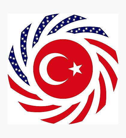 Turkish American Multinational Patriot Flag Series Photographic Print