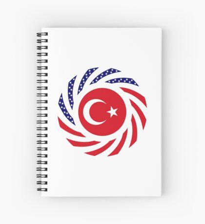 Turkish American Multinational Patriot Flag Series Spiral Notebook