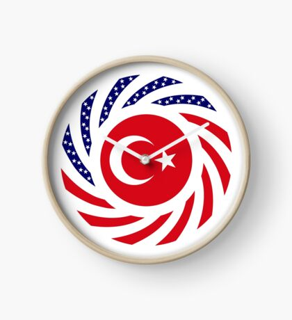 Turkish American Multinational Patriot Flag Series Clock