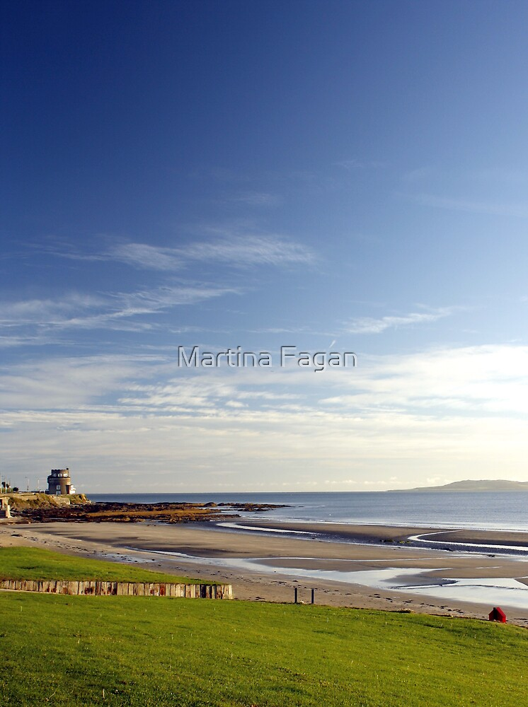 Martello on the white sands by Martina Fagan
