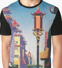San Francisco Chinatown Vintage Travel Poster Graphic T-Shirt
