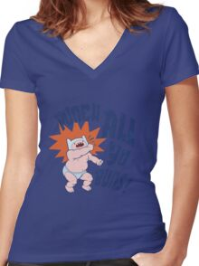Finn The Human. Women's Fitted V-Neck T-Shirt