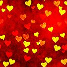 Beautiful texture with hearts for beautiful gifts. by starchim01
