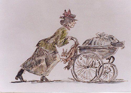 Street hawker by leunig