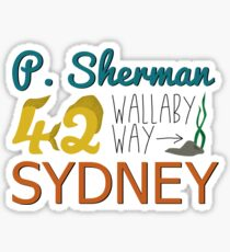 Pegatina P. Sherman 42 Wallaby Way Sydney