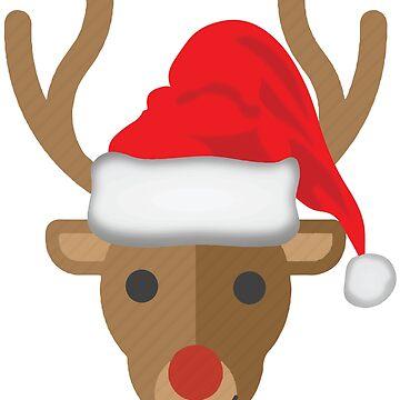 Deer with Santa's hat by tarek25
