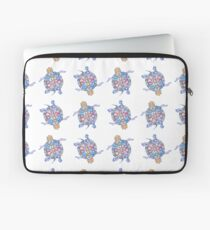 Sea Turtles | Folk Blue Palette  Laptop Sleeve