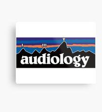Audiology Mountains Metal Print