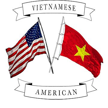 Vietnamese  American ancestry flag design by jhussar