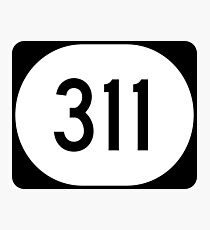 Mississippi Highway MS 311 | United States Highway Shield Sign Sticker Photographic Print