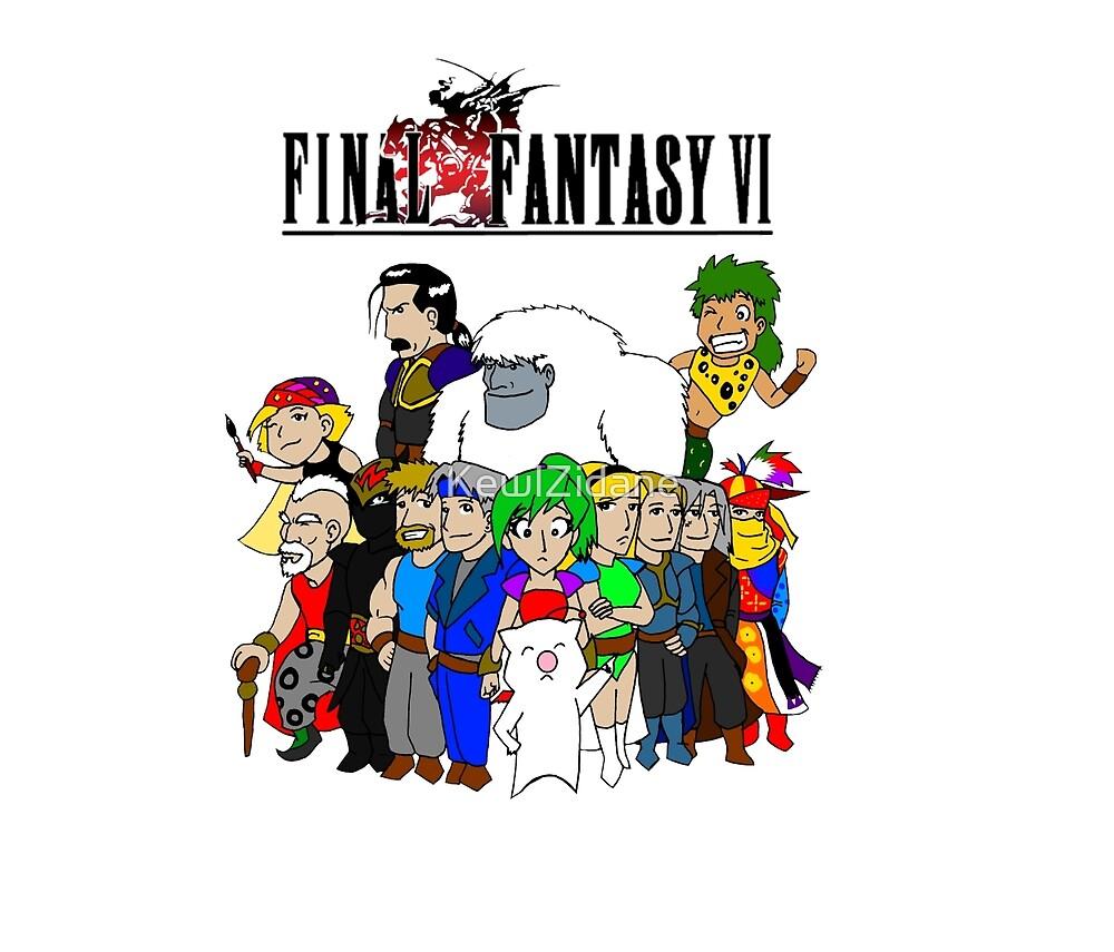 Final Fantasy 6 Characters by KewlZidane