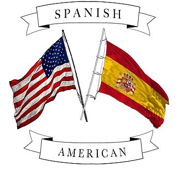 Spanish American ancestry flag graphic design by jhussar