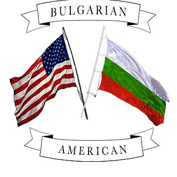 Bulgarian American ancestry flag graphic design  by jhussar