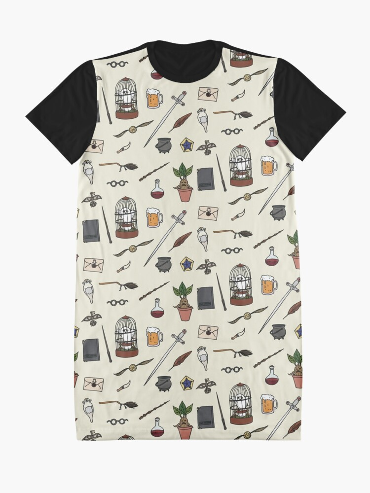 Alternate view of Owl and wand Graphic T-Shirt Dress