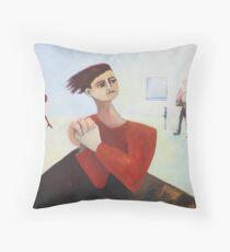 Rushing Nowhere Throw Pillow