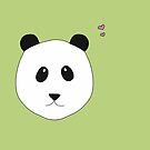 Panda Love grün von Simone Abelmann