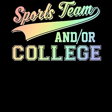 Go Local Sports Team & College Soft Rainbow by perfectpresents