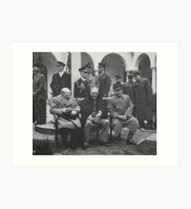 The Big Three During The Yalta Conference Art Print