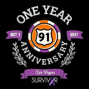 Las Vegas Shooting Survivor  | 1 Year Anniversary | Route 91 Harvest Festival | Dark Apparel by PureCreations