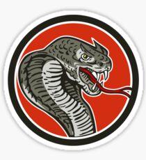 Cobra Viper Snake Circle Retro Sticker
