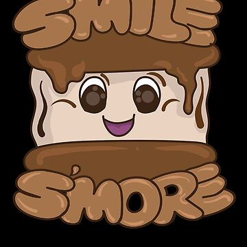 Smile S`more Camping Camping Marshmallow by IchliebeT-Shirt