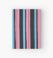 Fashion Super-cool Stylized Stripes Hardcover Journal