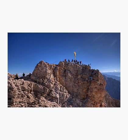 Zugspitze - crowded summit Photographic Print