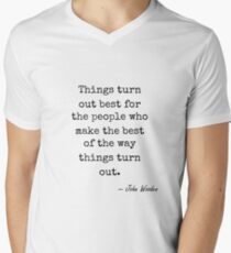 John Wooden famous quote about best V-Neck T-Shirt
