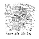 Greater Salt Lake City Valley Illustrated Map by Claire Lordon