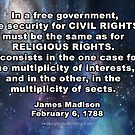 """Religious Freedom"" Argument Settled by James Madison by Redesign Your  Thinking LLC"
