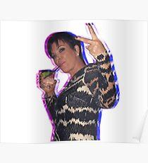 Trippy Kris Jenner Poster