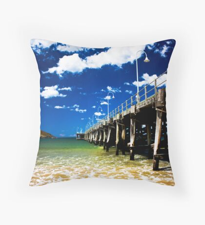 Out on the Jetty Throw Pillow