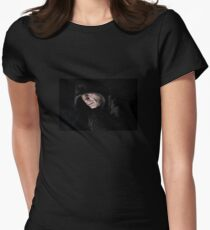 The hooded man Women's Fitted T-Shirt