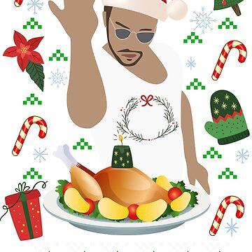 Salt Bae Funny Ugly Christmas Design by ThePrintGuys