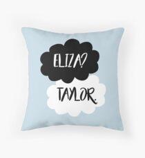 Eliza? Taylor. Throw Pillow