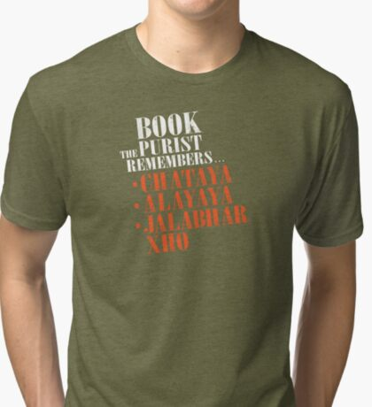 The Book Purist Remembers 2 Tri-blend T-Shirt