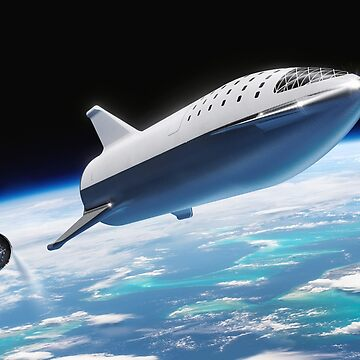 SpaceX's BFR at Stage Separation by bobbooo