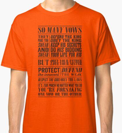 So Many Vows (Black) Classic T-Shirt