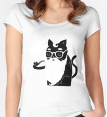 Whiskers And Pipe Women's Fitted Scoop T-Shirt