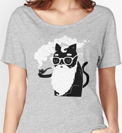Whiskers And Pipe Relaxed Fit T-Shirt